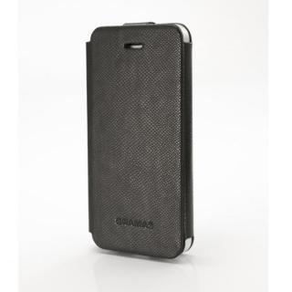 手入れの簡単なPUレザー PRECISION ブラック iPhone 5s/5手帳型ケース