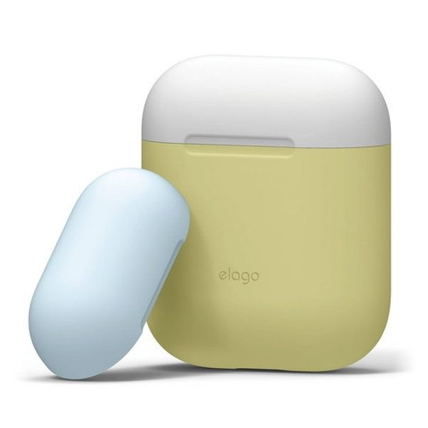 elago AIRPODS DUO CASE for AirPods イエロー_0