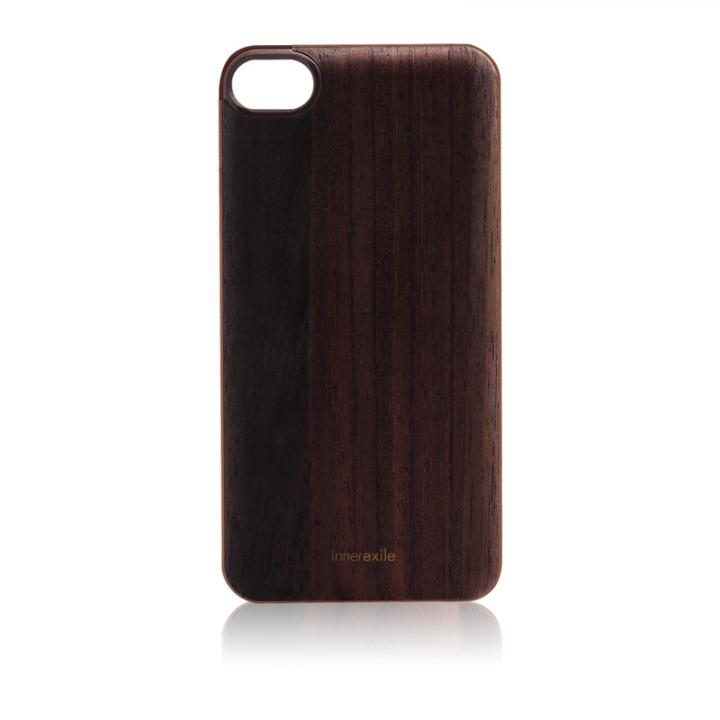 【iPhone SE/5s/5ケース】innerexile Wood E-wallet Back Cover  Odyssey 5 (DarkBrown)_0