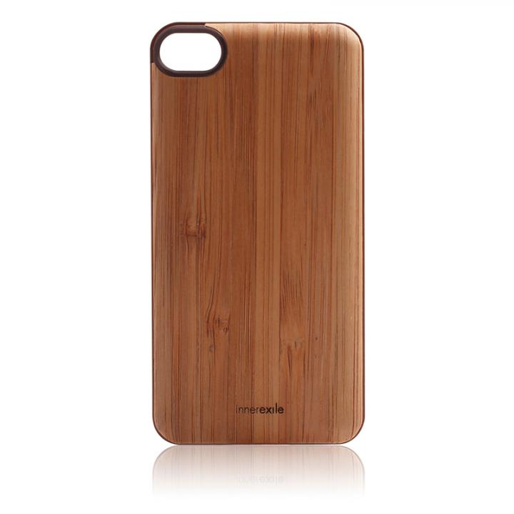 iPhone SE/5s/5 ケース innerexile Wood E-wallet Back Cover 5 (LightBrown)_0