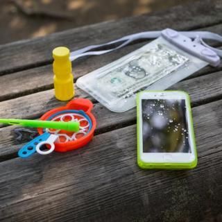 【iPhone6s/6ケース】薄い防水ケース カード1枚収納可能 JEMGUN Passport クリアグリーン iPhone 6s/6_8
