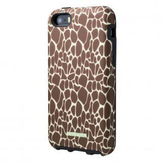 流行のサファリ柄 Double Protection ケース キリン iPhone SE/5s/5c/5ケース