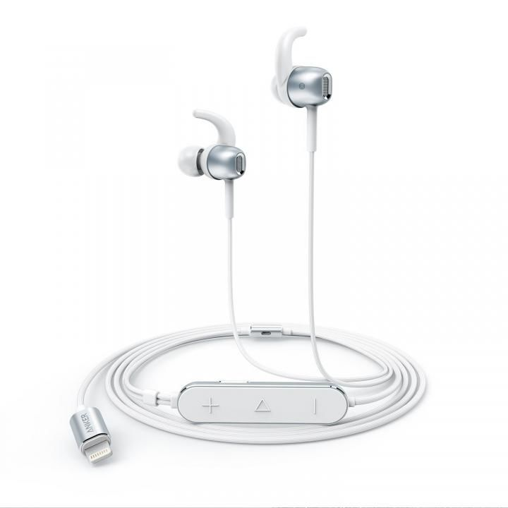 Anker Lightning接続イヤホン SoundBuds Digital IE10 シルバー_0