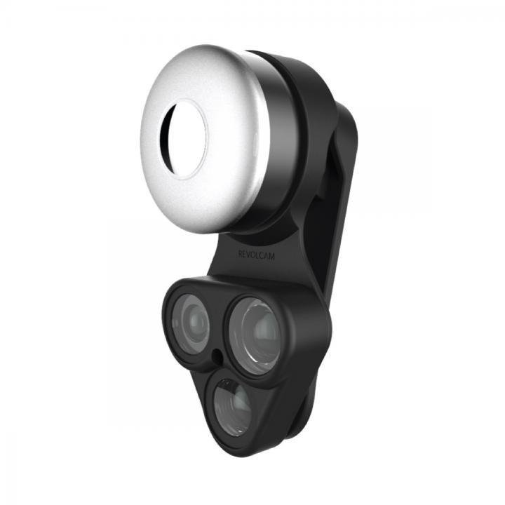 RevolCam スマートフォン用カメラレンズアダプタ ブラック_0
