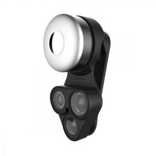 RevolCam スマートフォン用カメラレンズアダプタ ブラック
