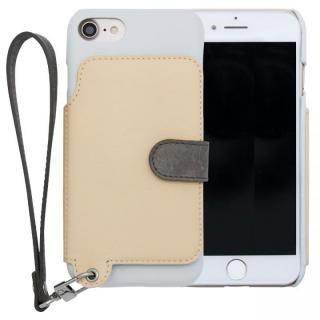 RAKUNI レザー手帳型ケース with ストラップ バニラ iPhone SE/5s/5【6月中旬】