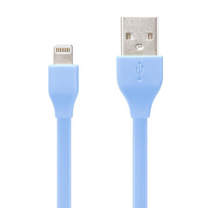 [50cm] Lightningコネクタ用 USBフラットケーブル ブルー_0