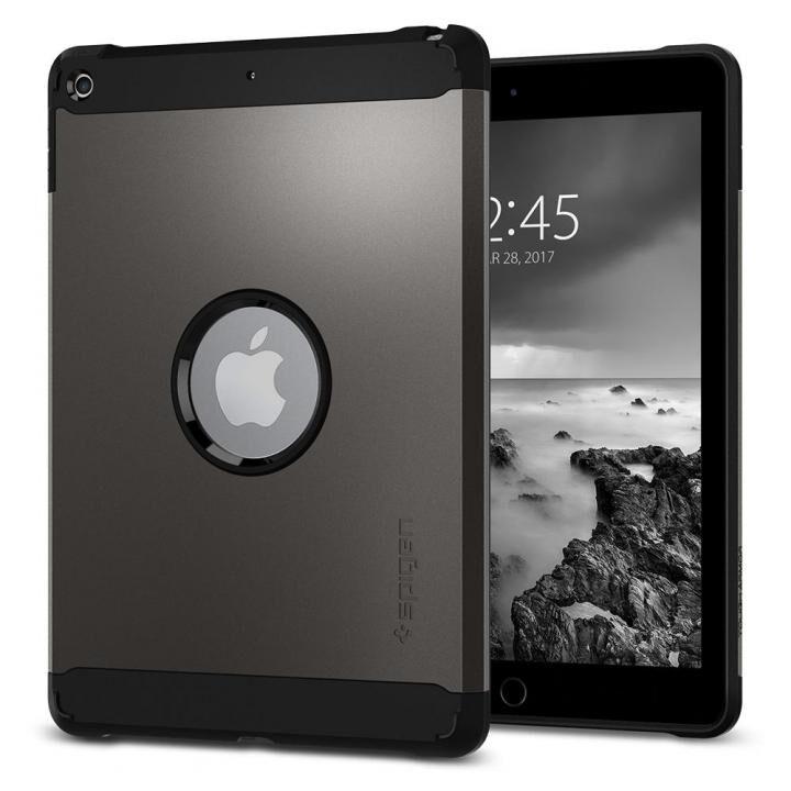 Spigen ケース Tough Armor iPad 9.7インチ ガンメタル_0