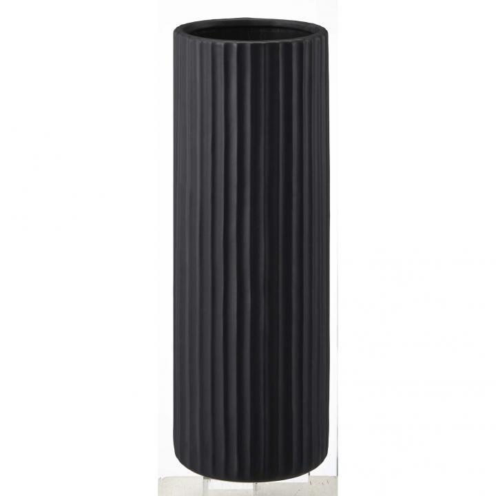 陶器傘立て スリム ストライプ ブラック