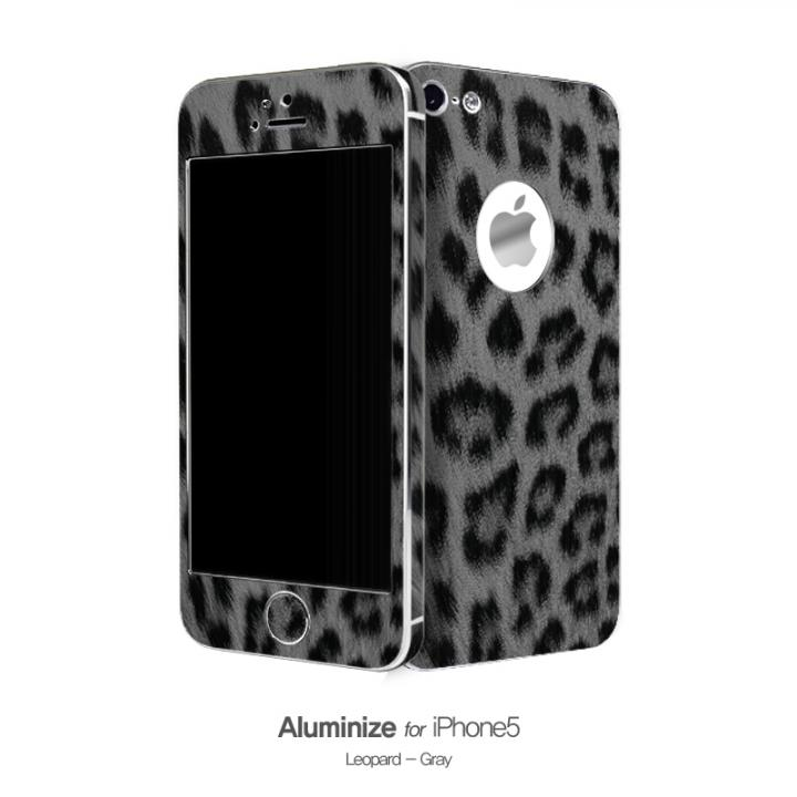 iPhone SE/5s/5 ケース Aluminize ヒョウ柄 Gray (Special Edition)_0