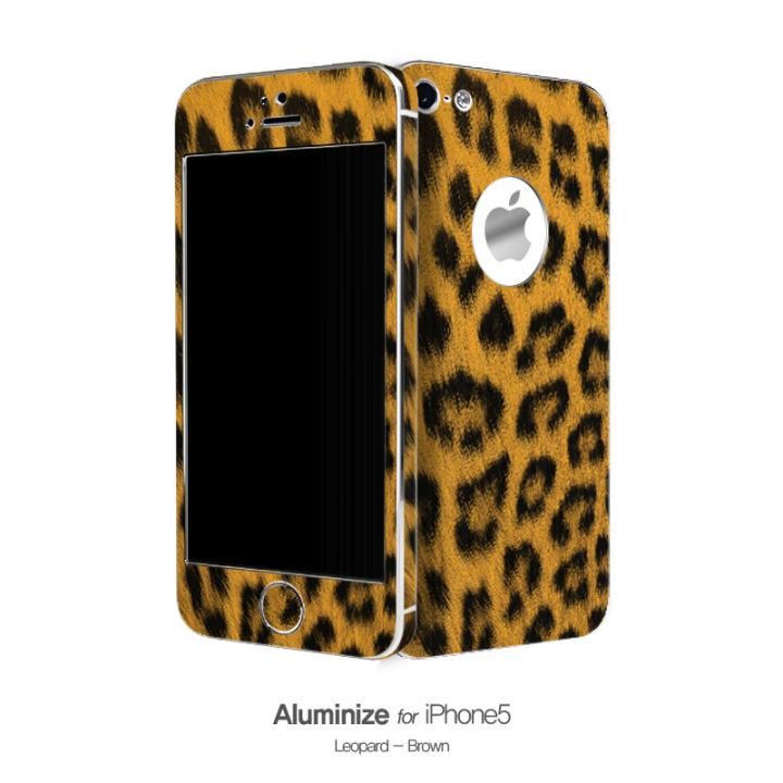 iPhone SE/5s/5 ケース Aluminize ヒョウ柄 Brown (Special Edition)_0