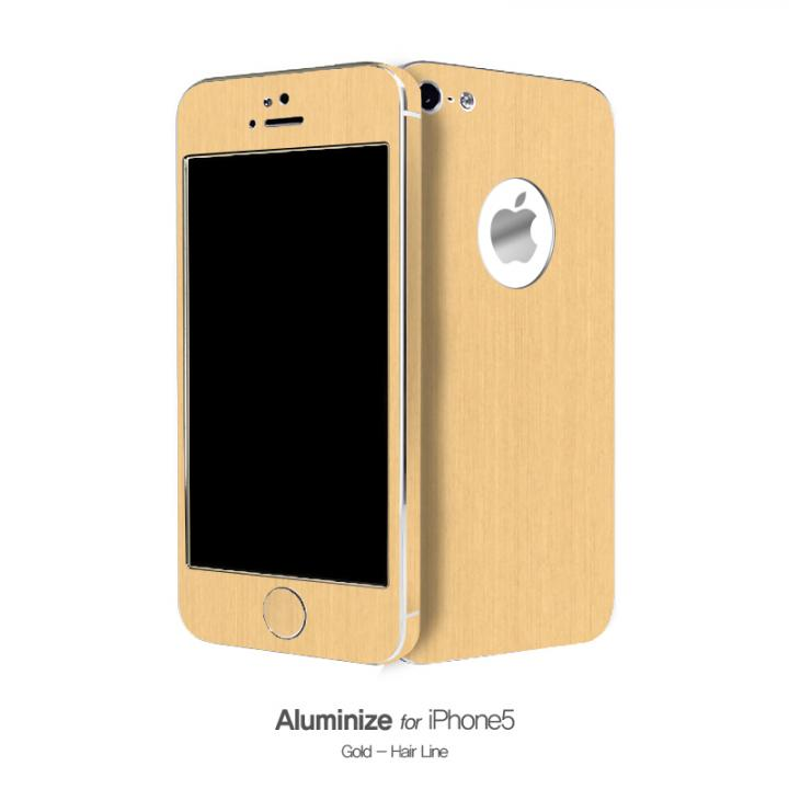 【iPhone SE/5s/5ケース】Aluminize Gold (Hair Line)_0
