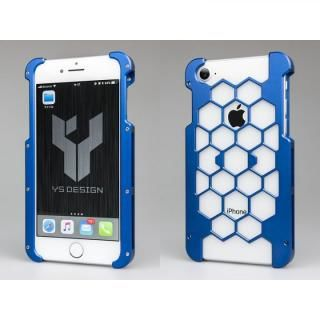 アルミ削り出しプロテクターケース  ブルー iPhone 8