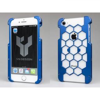 【iPhone8ケース】アルミ削り出しプロテクターケース  ブルー iPhone 8
