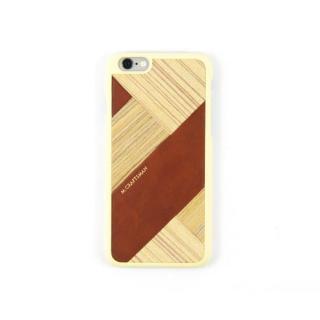 【iPhone6s/6ケース】COLLART ウッドレザーケース ブラウン iPhone 6s/6