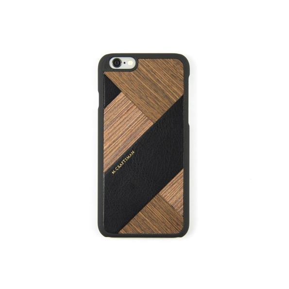 【iPhone6s/6ケース】COLLART ウッドレザーケース ブラック iPhone 6s/6_0