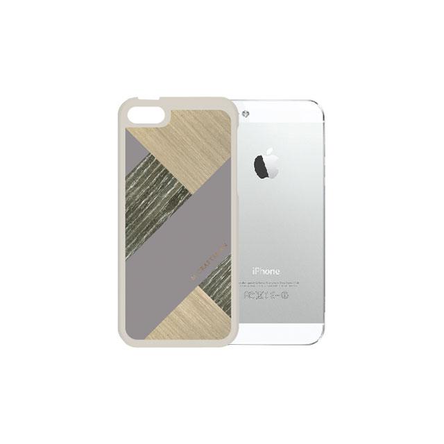 【iPhone SE/5s/5ケース】COLLART ウッドレザーケース グレイ iPhone SE/5s/5_0