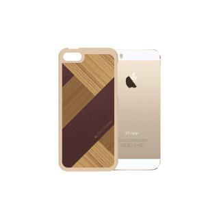 COLLART ウッドレザーケース ブラウン iPhone SE/5s/5