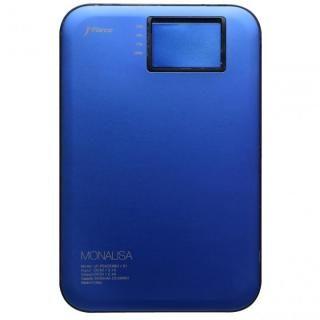 超薄型スタイリッシュモバイルバッテリー「MONALISA」[3400mAh]ブルー【8月下旬】
