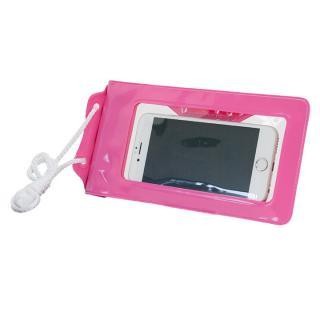 スタンド付き完全防水ケース Jelly Fish S Plus ピンク 多機種対応(iPhone/Android)