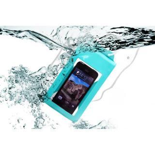 スタンド付き完全防水ケース Jelly Fish S Plus ブルー 多機種対応(iPhone/Android)