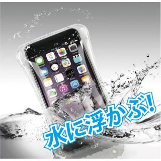 iPhone6s/6 ケース エアーバック搭載・浮く!防水スマホケース ホワイト IPX8取得 多機種対応(iPhone/Android)