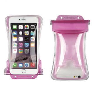 iPhone6s/6 ケース エアーバック搭載・浮く!防水スマホケース ピンク IPX8取得 多機種対応(iPhone/Android)