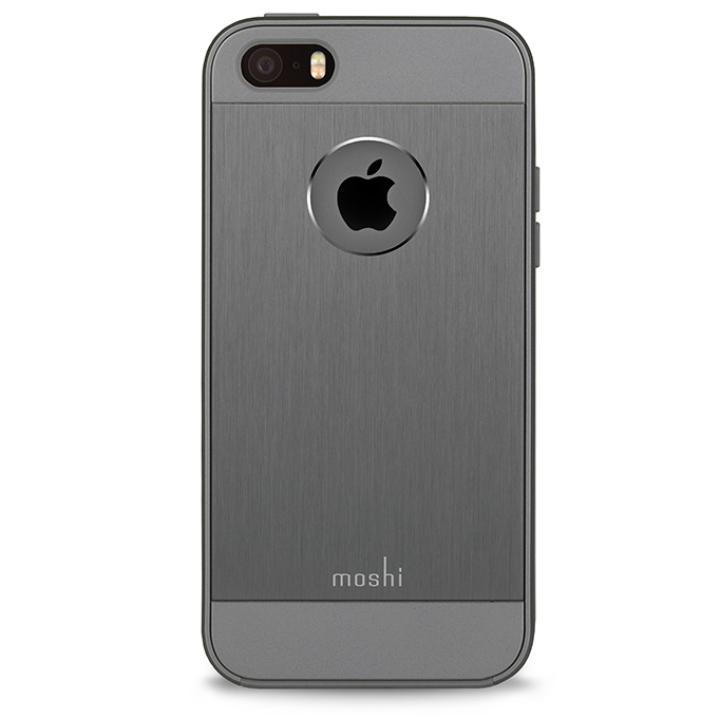 moshi iGlaze Armour ハイブリッドケース ガンメタル グレイ iPhone SE/5s/5