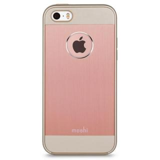 moshi iGlaze Armour ハイブリッドケース ゴールデン ローズ iPhone SE/5s/5