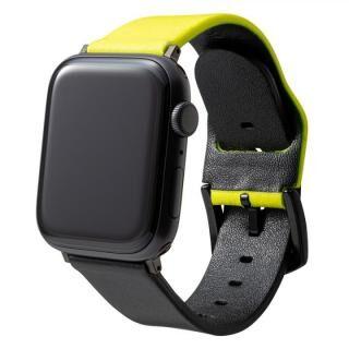 NEON Italian Genuine Leather Watchband for Apple Watch 44/42mm Neon Yellow Black