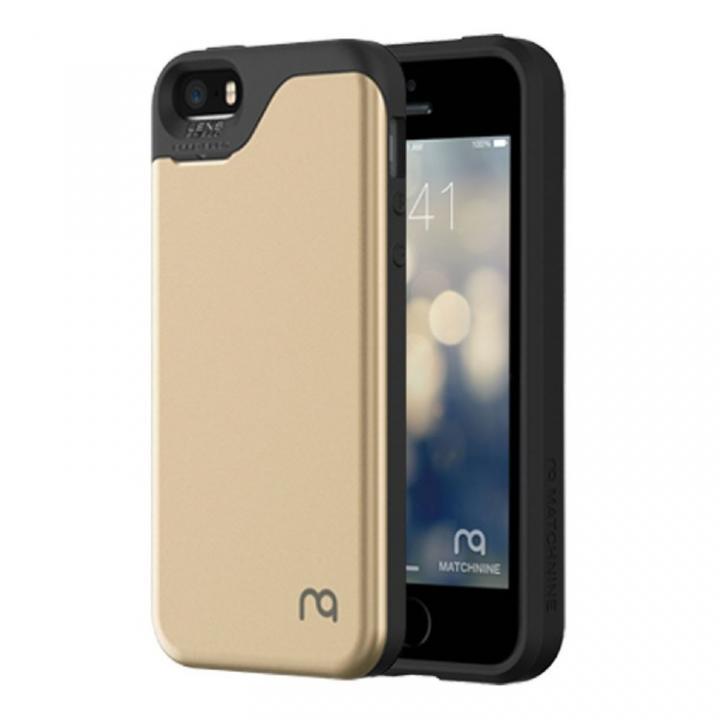 【iPhone SE/5s/5ケース】カード2枚収納可能 MATCH4 CARD CAPSULES シャンパンゴールド iPhone SE/5s/5_0