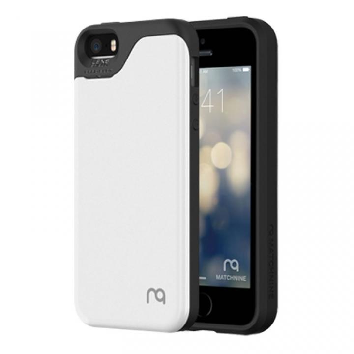 【iPhone SE/5s/5ケース】カード2枚収納可能 MATCH4 CARD CAPSULES メタリックホワイト iPhone SE/5s/5_0