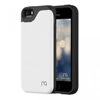 カード2枚収納可能 MATCH4 CARD CAPSULES メタリックホワイト iPhone SE/5s/5