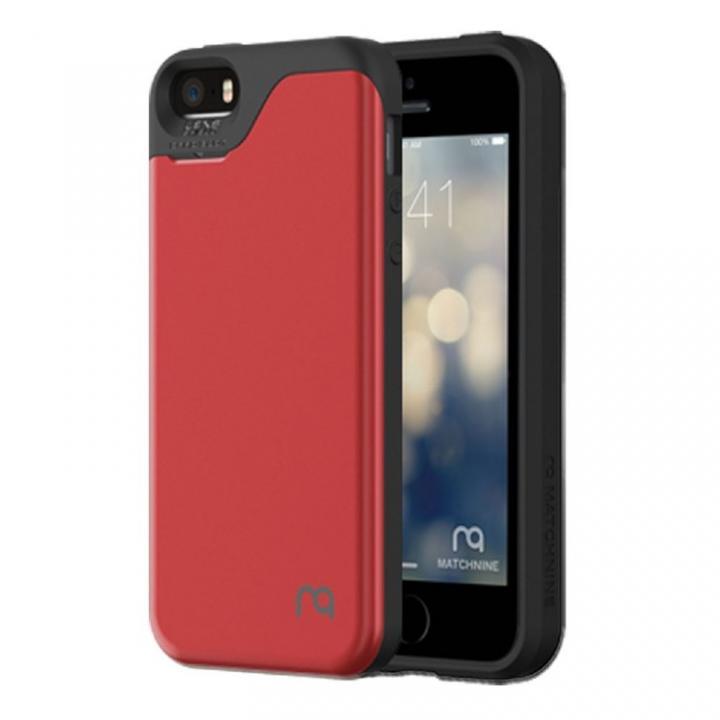 【iPhone SE/5s/5ケース】カード2枚収納可能 MATCH4 CARD CAPSULES メタリックレッド iPhone SE/5s/5_0