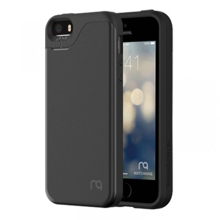 iPhone SE/5s/5 ケース カード2枚収納可能 MATCH4 CARD CAPSULES メタリックブラック iPhone SE/5s/5_0
