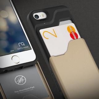 【iPhone SE/5s/5ケース】カード2枚収納可能 MATCH4 CARD CAPSULES メタリックブラック iPhone SE/5s/5_2