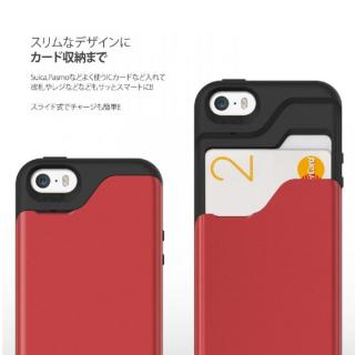 【iPhone SE/5s/5ケース】カード2枚収納可能 MATCH4 CARD CAPSULES メタリックブラック iPhone SE/5s/5_3