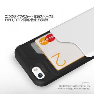 【iPhone SE/5s/5ケース】カード2枚収納可能 MATCH4 CARD CAPSULES メタリックブラック iPhone SE/5s/5_4