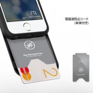 【iPhone SE/5s/5ケース】カード2枚収納可能 MATCH4 CARD CAPSULES メタリックブラック iPhone SE/5s/5_6