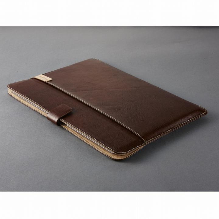 エコレザーブックスリーブ ブラウン MacBook 12インチ用_0