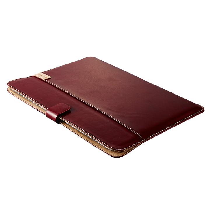 エコレザーブックスリーブ レッド MacBook 12インチ用_0
