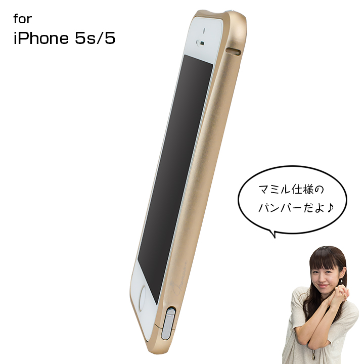iPhone SE/5s/5 マミルトンのゴールドバンパー  iPhone SE/5s/5_0