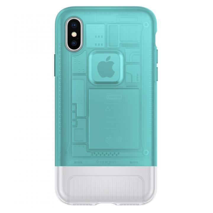 iPhone X ケース Spigen Classic C1 ボンダイブルー iPhone X_0