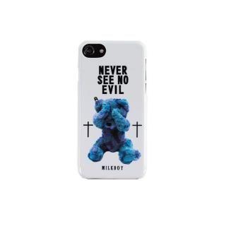 iPhone8/7/6s/6 ケース MILKBOY(ミルクボーイ)  SEE NO EVILBEARS ホワイト iPhone 8/7/6s/6