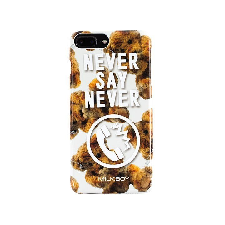 【iPhone8 Plus/7 Plusケース】MILKBOY(ミルクボーイ)  NEVERPHONEBEARS ホワイト iPhone 8 Plus/7 Plus/6s Plus/6 Plus_0