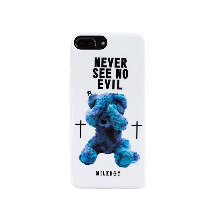 【iPhone8 Plus/7 Plusケース】MILKBOY(ミルクボーイ)  SEE NO EVILBEARS ホワイト iPhone 8 Plus/7 Plus/6s Plus/6 Plus_0