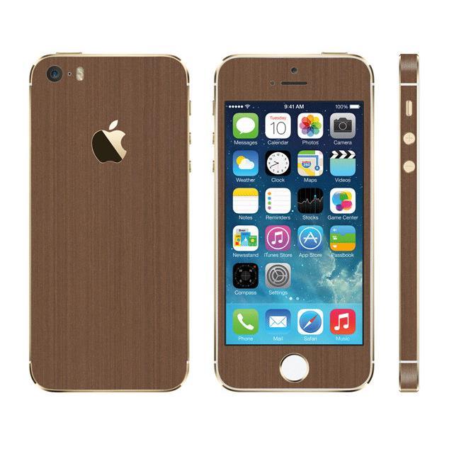iPhone SE/5s/5 ケース メタル調 プレミアムスキンシール ブラッシュドコッパー iPhone SE/5sスキンシール_0