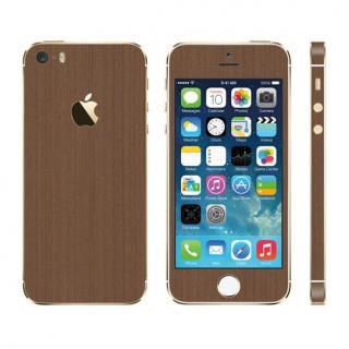 メタル調 プレミアムスキンシール ブラッシュドコッパー iPhone SE/5sスキンシール