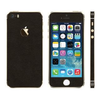 レザー調 プレミアムスキンシール ブラウンレザー iPhone SE/5sスキンシール