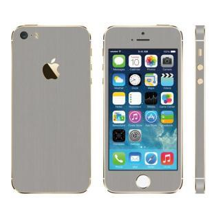 メタル調 プレミアムスキンシール ブラッシュドスチール iPhone SE/5sスキンシール